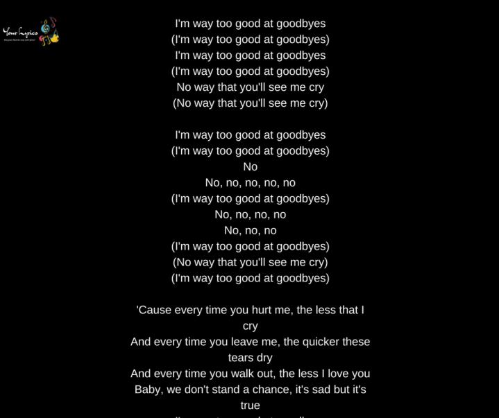 you re too good to be true lyrics