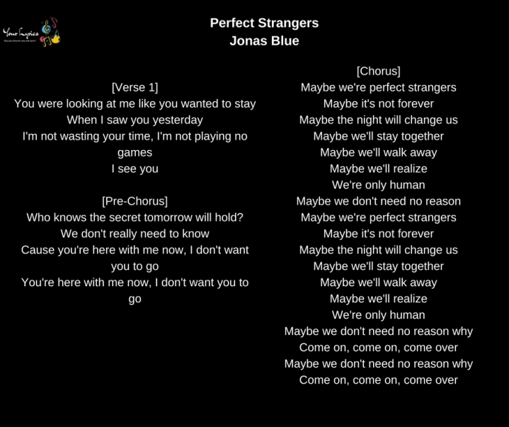 Jonas Blue – Your Lyrics
