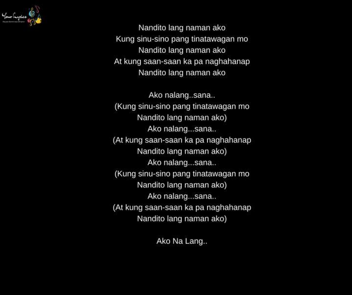 Zia Quizon – Ako Na Lang Lyrics | Genius Lyrics