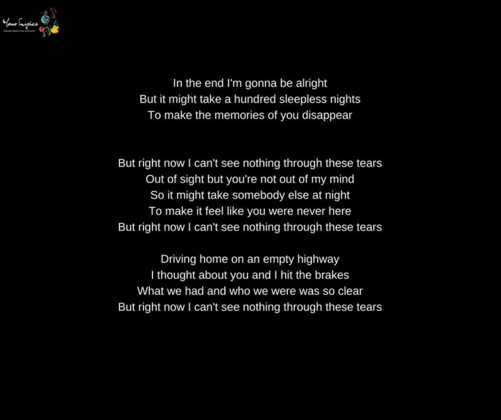 Via song lyrics