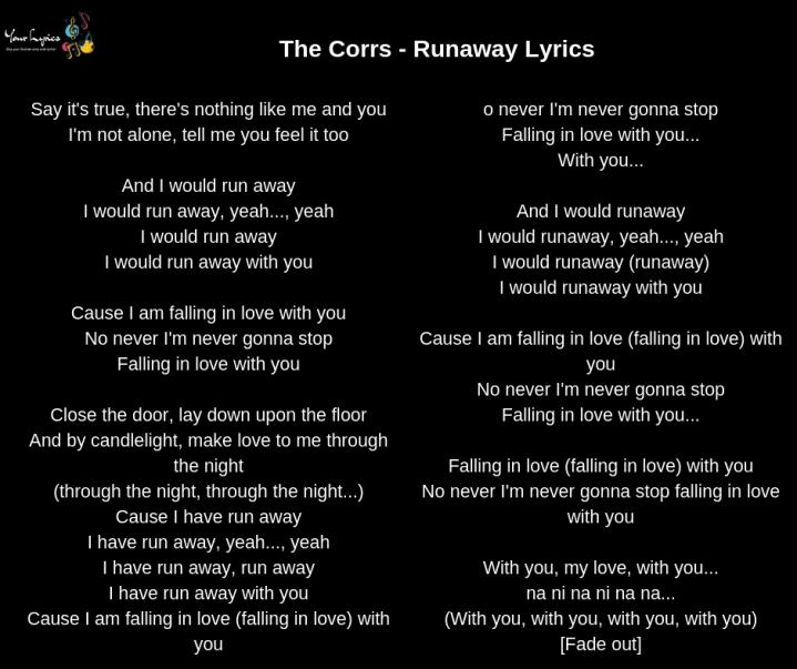 The Corrs – Your Lyrics