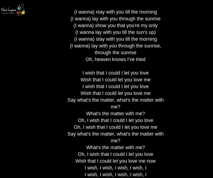 i love you you love me lyrics
